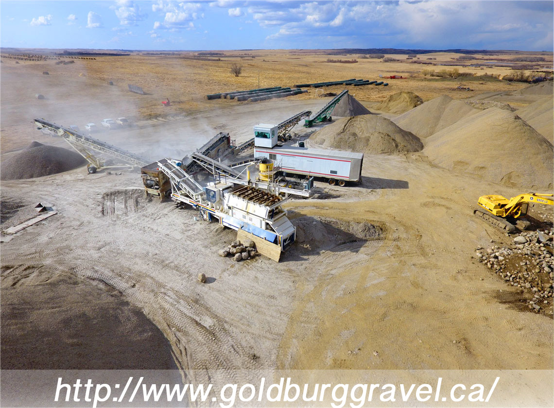 Goldburg Gravel Business Website